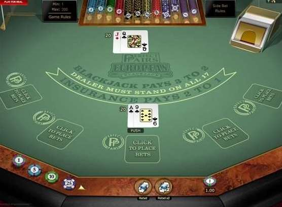 Perfect Pairs European Multi Hand Blackjack