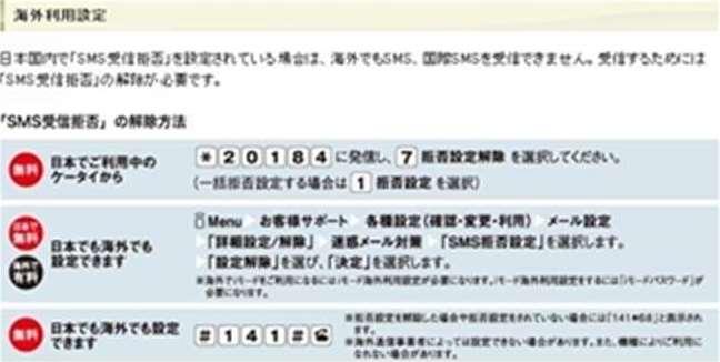 NTTドコモ画面