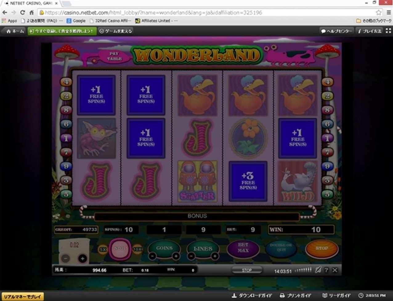 Wonderlandボーナスゲーム5