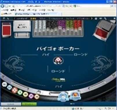 テーブル中央の賭けのエリア