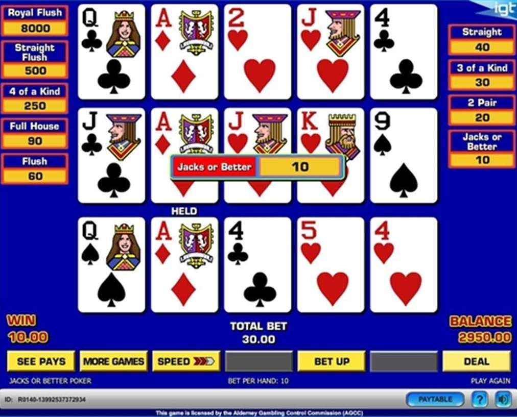 Triple Play Draw Poker Multi Hand1