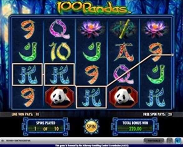 スロット 無料 100 pandas (スロットゲーム、100ライン)ゲーム