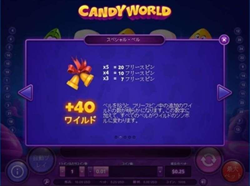 Candy Worldフリーゲーム