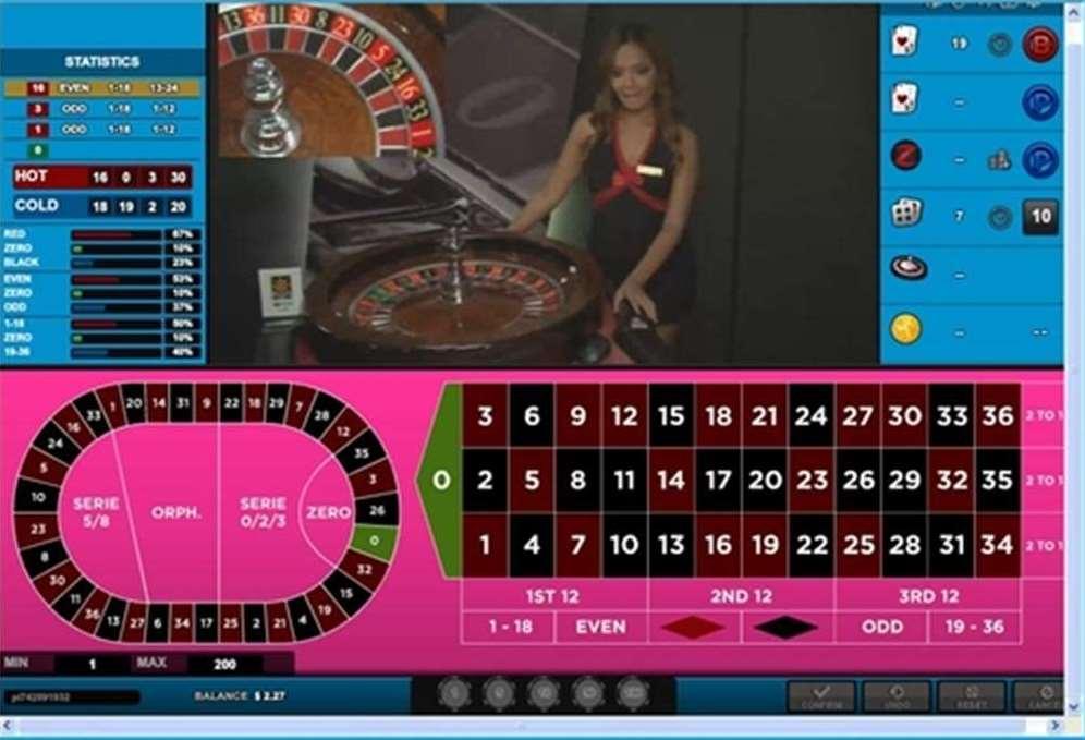 カジノマカオのテーブルレイアウトゲーム画面2