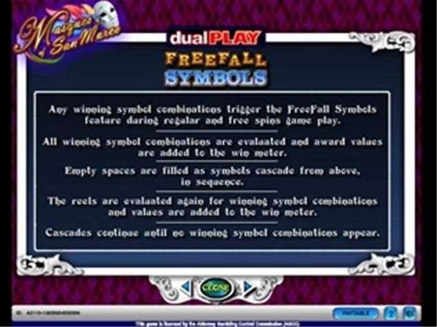 DualPlay FreeFall Symbol機能
