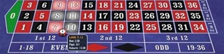 縦2列の数字6つ