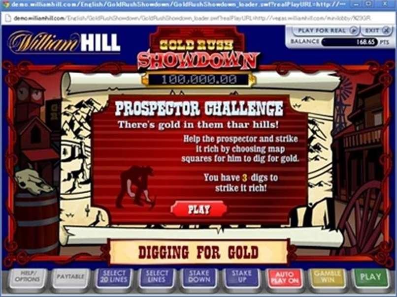 ゴールドプロスペクターボーナスゲーム