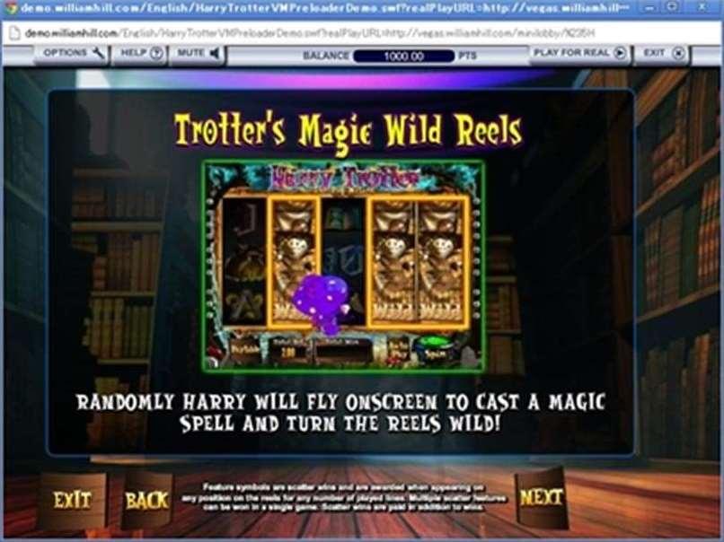 Trotter's Magic Wild Reels機能