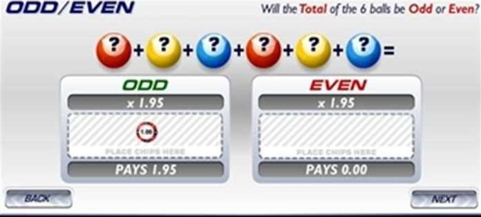 数字の合計が奇数(ODDS)か偶数(EVEN)か