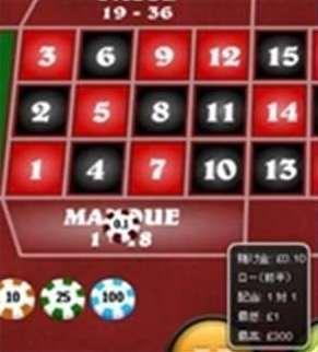 Manque (1-18)/Passe (19-36)