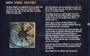 Bonus Wheel Feature