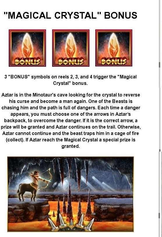 Magical crystal bonus