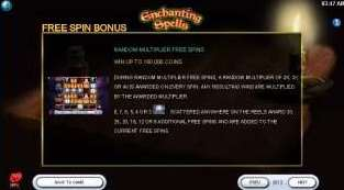 Random multiplier free spins