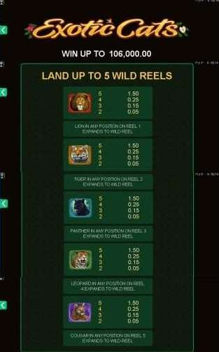 Land up to 5 Wild Reels
