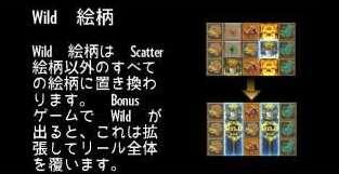Bonus ゲームで Wild が出る