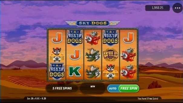 Dog fight free spin bonus3