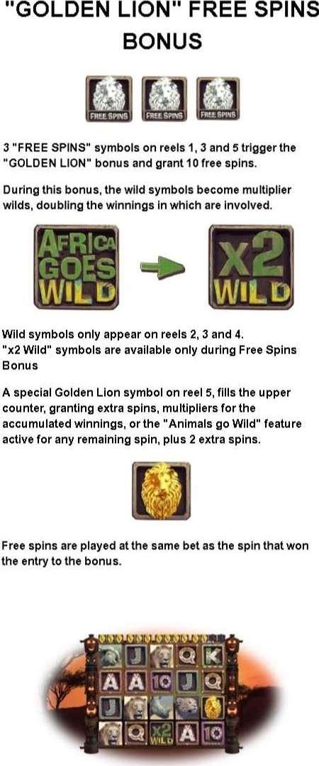 Golden Lion Free Spins Bonus1