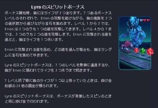Lyraのスピリットボーナス