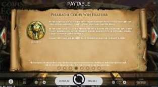 Pharaoh Coins Win Feature
