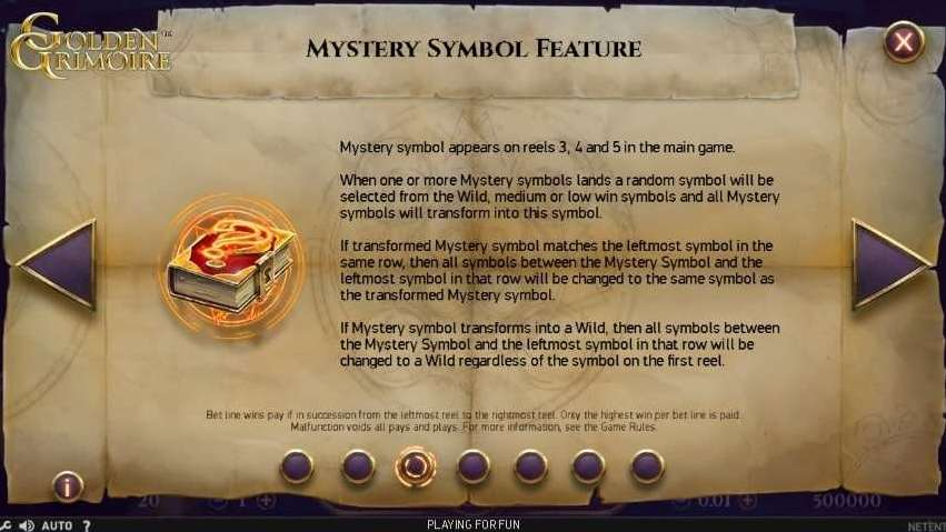 Mystery Symbol Feature