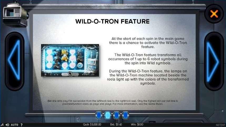 Wild o Tron 3000 feature