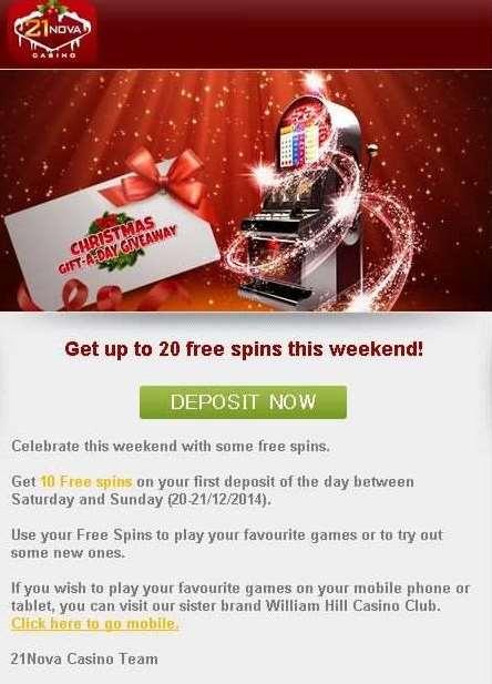 21NovaカジノGift-A-Day-Giveawayプロモーション4