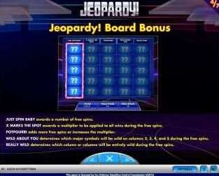 Jeopardyボードボーナス2