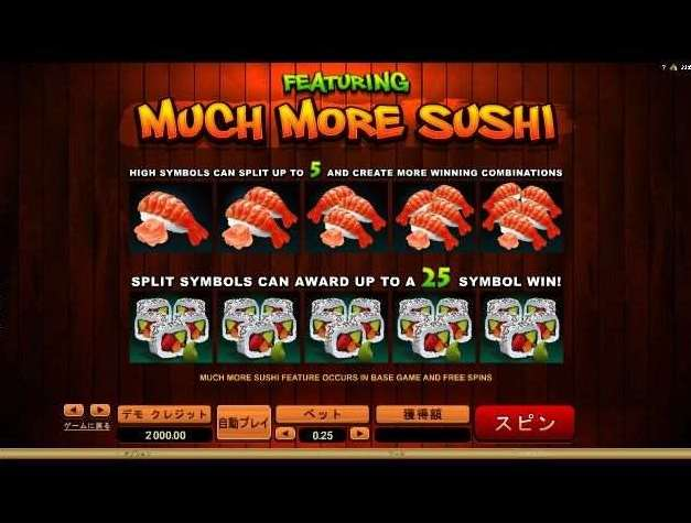 Much More Sushi機能2