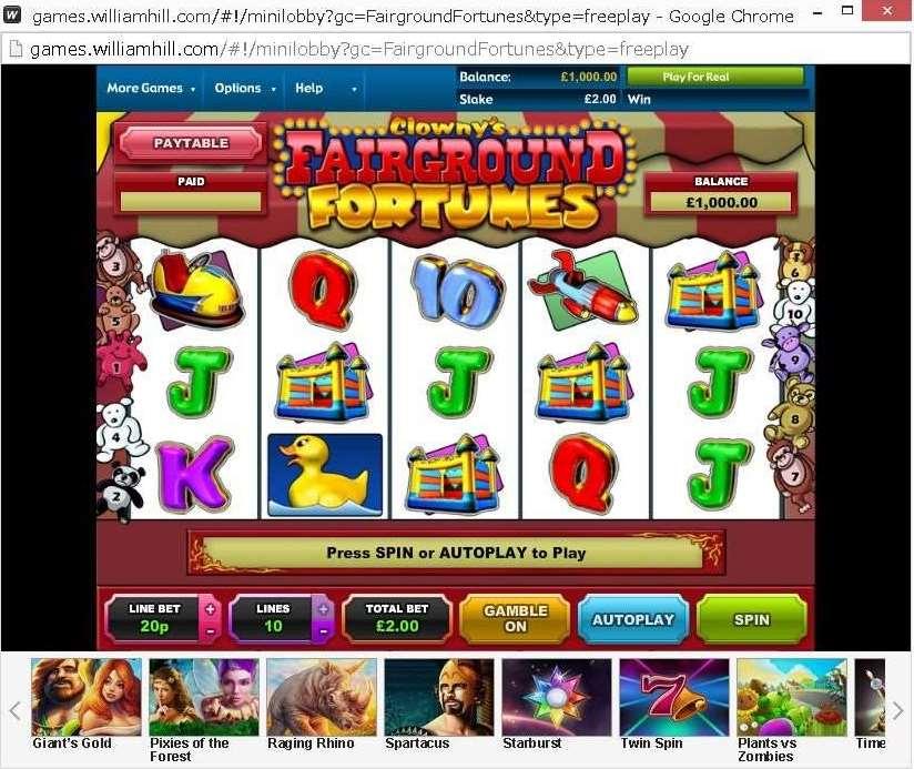 WHG Fairground Fortunes