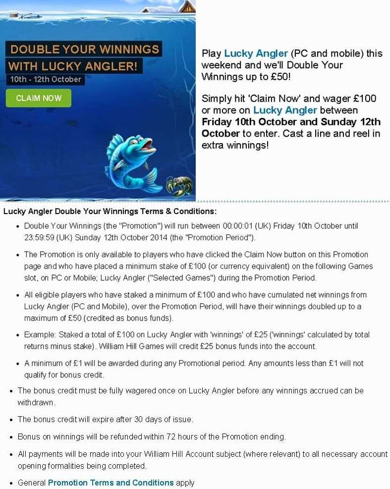online william hill casino angler online