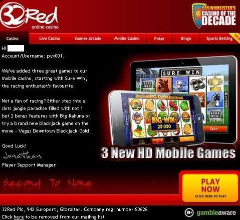 32Red casino mobile game new1