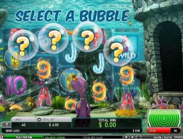 4つの泡の内から1つのバブル