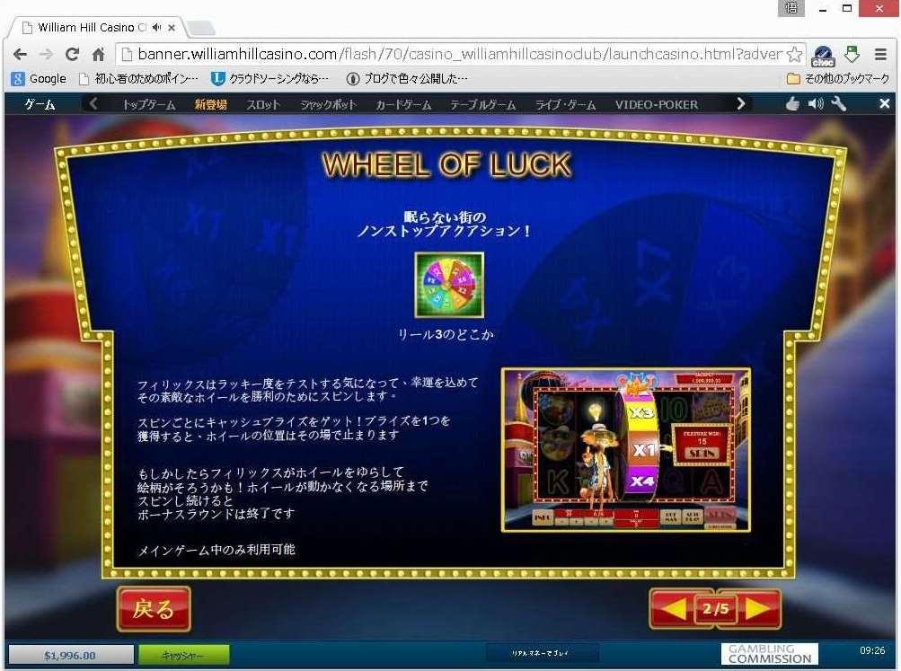 Wheel of Luck機能