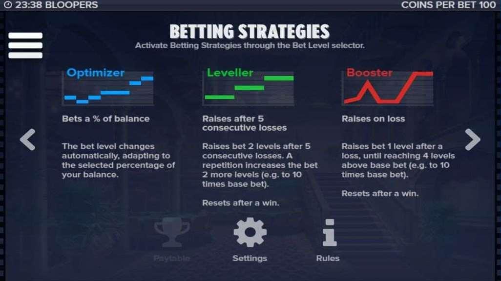 12種類の賭け金