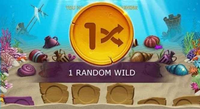 第四リールの中央にゲーム終了までその位置で固定されるワイルド絵柄が1つ配置される0