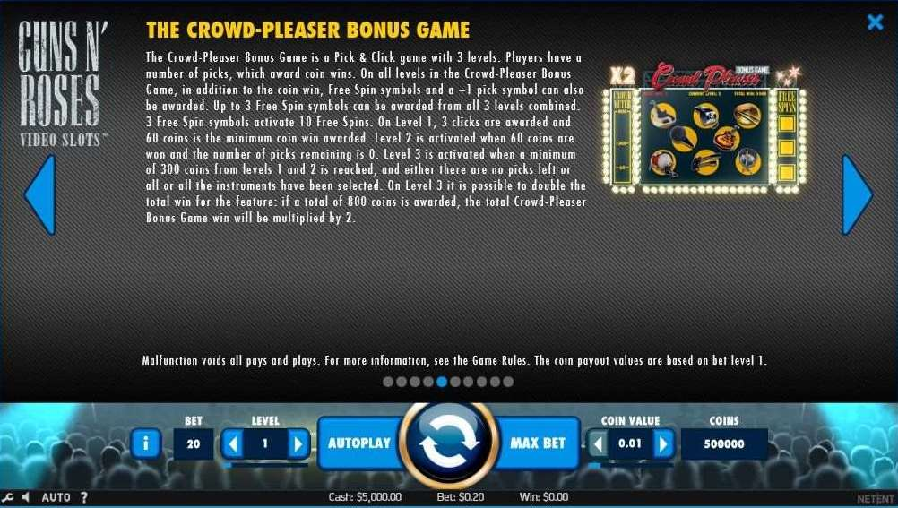 The Crowd Pleaser Bonus Game