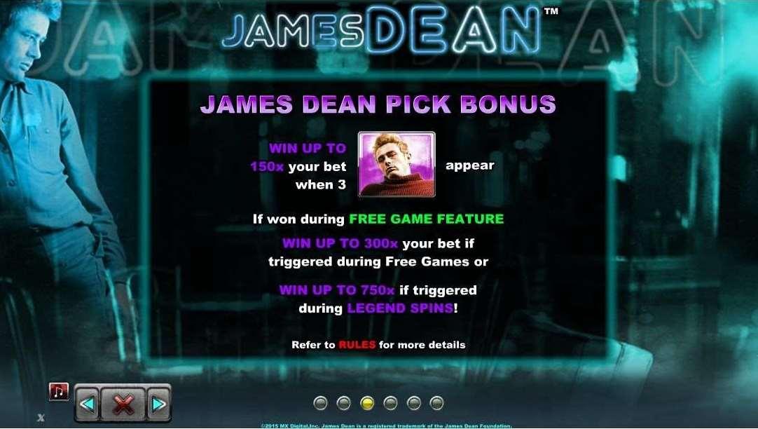 James Dean Pick Bonus