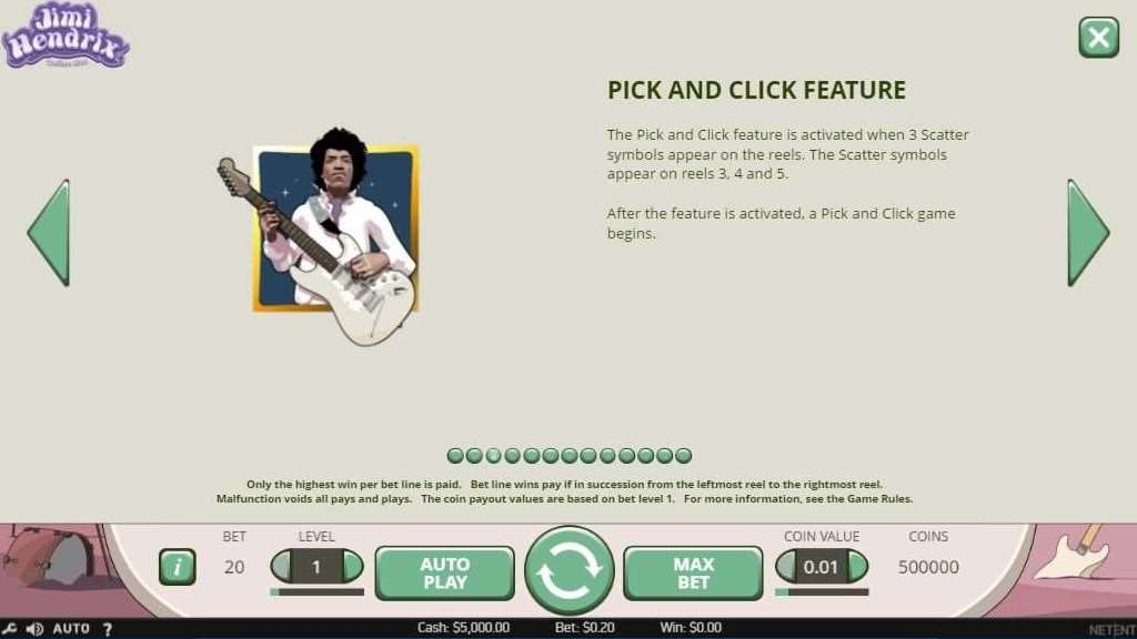 Pick and Click Feature