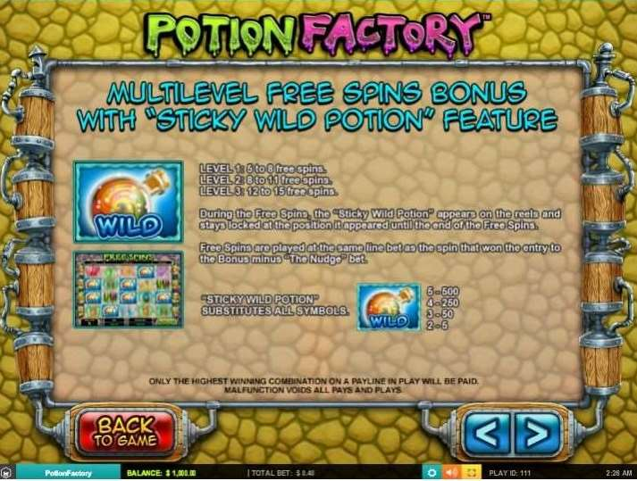 Mulitilevel Free Spins Bonus