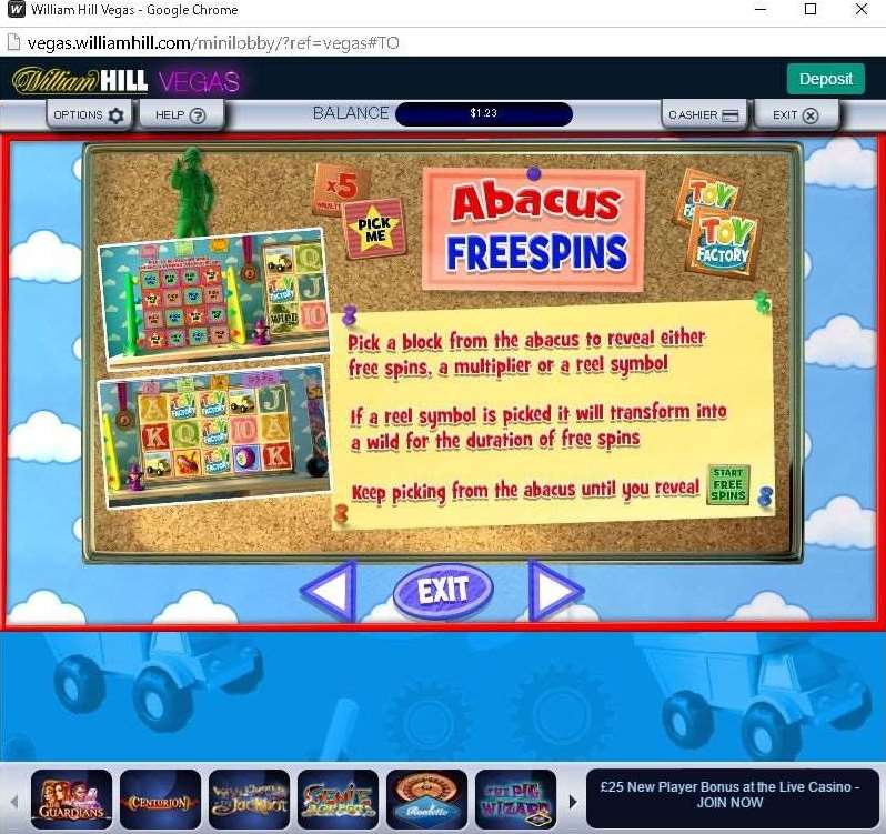 Abacus Free Spins