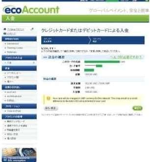 カード情報や入金額の書かれた確認画面-J