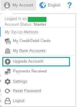 Upgrade Account