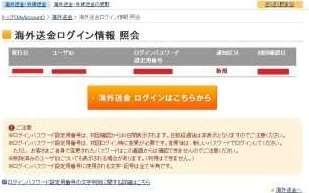ユーザーIDとログインパスワード
