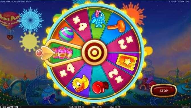 Theme Park Bonus Wheel4