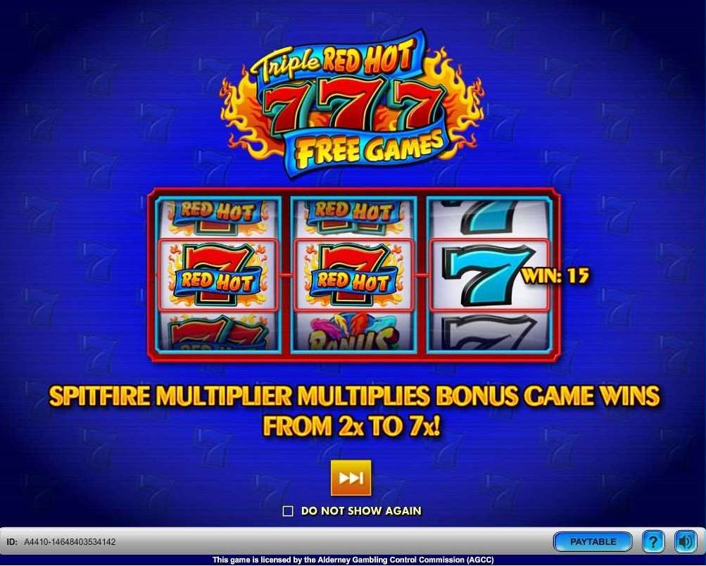 VJ  Triple Red Hot 7s Free Games0