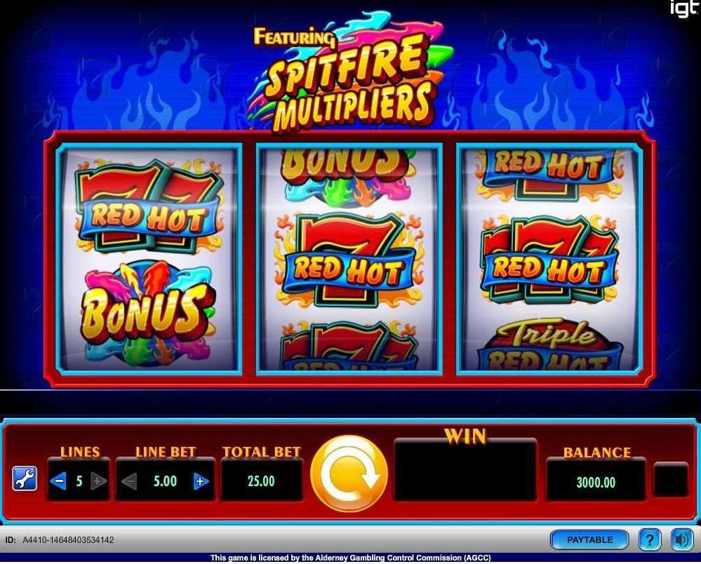 VJ  Triple Red Hot 7s Free Games