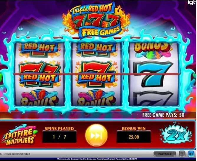 Spitfire Multipliers and the Free Games Bonus3