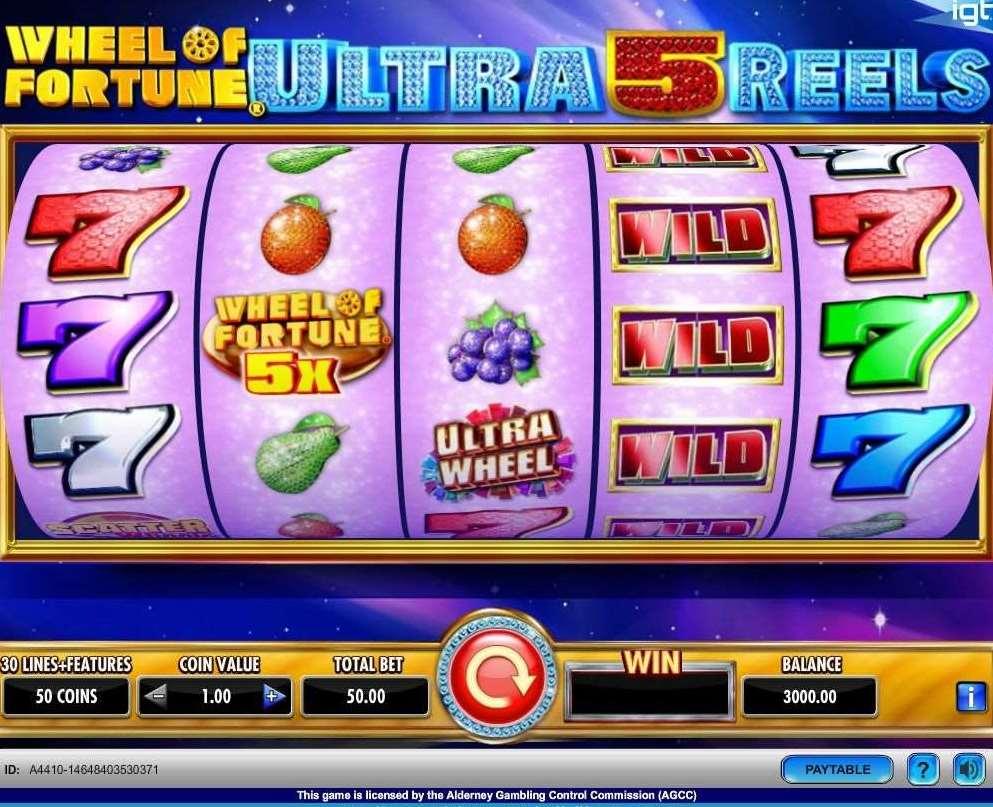 VJ Wheel of Fortune Ultra 5 Reels