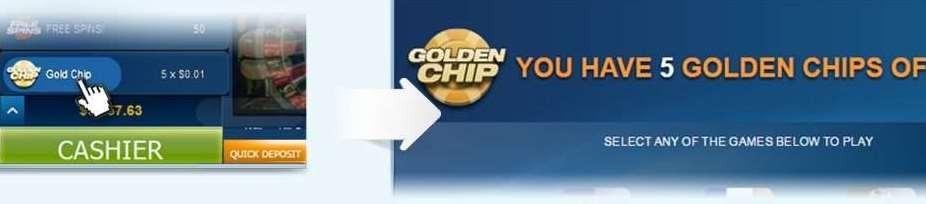 Golden Chipsの回数とベット額の確認