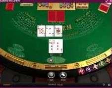 中央にオープンにしたカードが3枚、プレイヤーにオープンにしたカードが2枚、